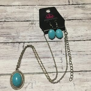 Paparazzi Turquoise Bead Necklace Set